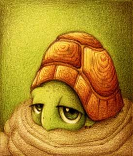 Turtle Turtle Turtle, i did a watercolor of this picture for art class ^_^