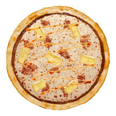 The 'Grandyo' Domino's Pizza - Camembert, Mozzarella, Pulled Pork and Chilli Lime Drizzle on a thin base! - #nomnom