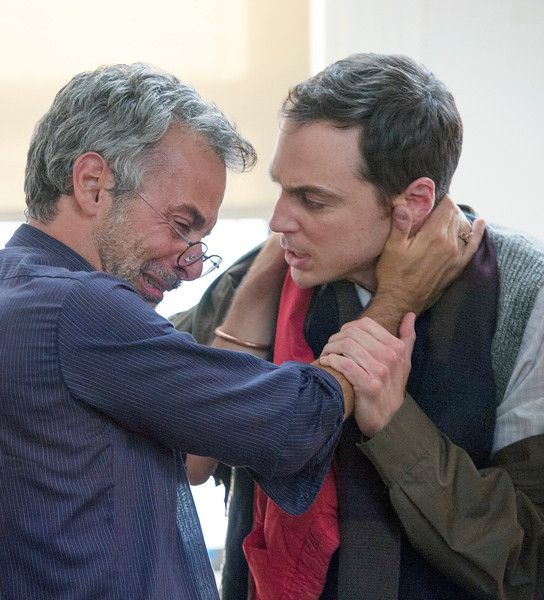 Joe Mantello and Jim Parsons in 'The Normal Heart.' (HBO)