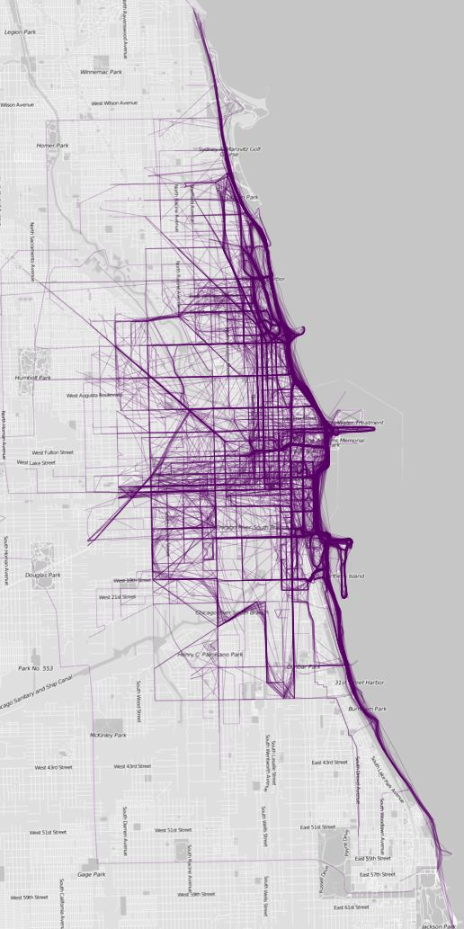 Chicago Map Grid%0A You Won u    t Believe What Heat Maps Of Major Cities Revealed