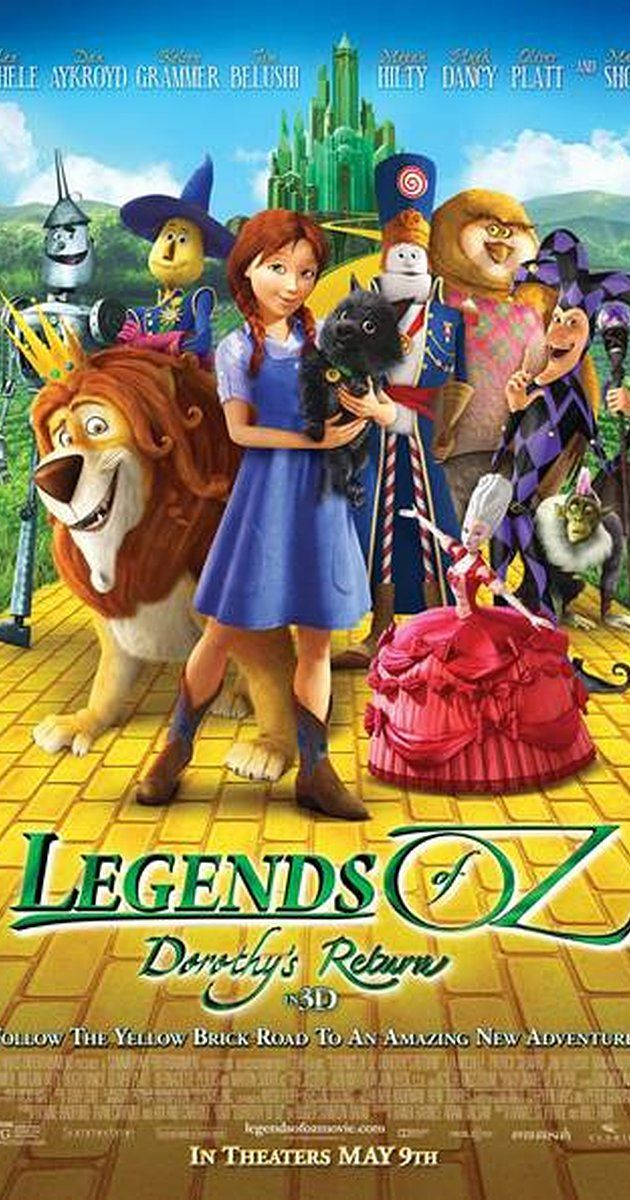 Directed by Will Finn, Daniel St. Pierre.  With Lea Michele, Kelsey Grammer, Dan Aykroyd, James Belushi. Dorothy wakes up in post-tornado Kansas, only to be whisked back to Oz to try to save her old friends the Scarecrow, the Lion, the Tin Man and Glinda from a devious new villain, the Jester. Wiser the owl, Marshal Mallow, China Princess and Tugg the tugboat join Dorothy on her latest magical journey through the colorful landscape of Oz to restore order and happiness to Emerald City.