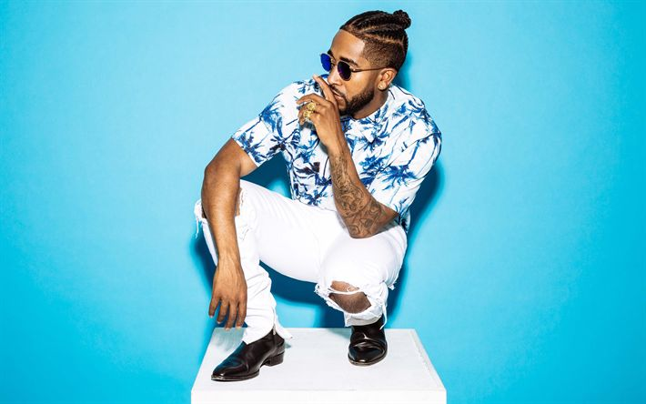 Download wallpapers Omarion, 4k, American singer, photoshoot, Omari Ishmael Grandberry, B2K