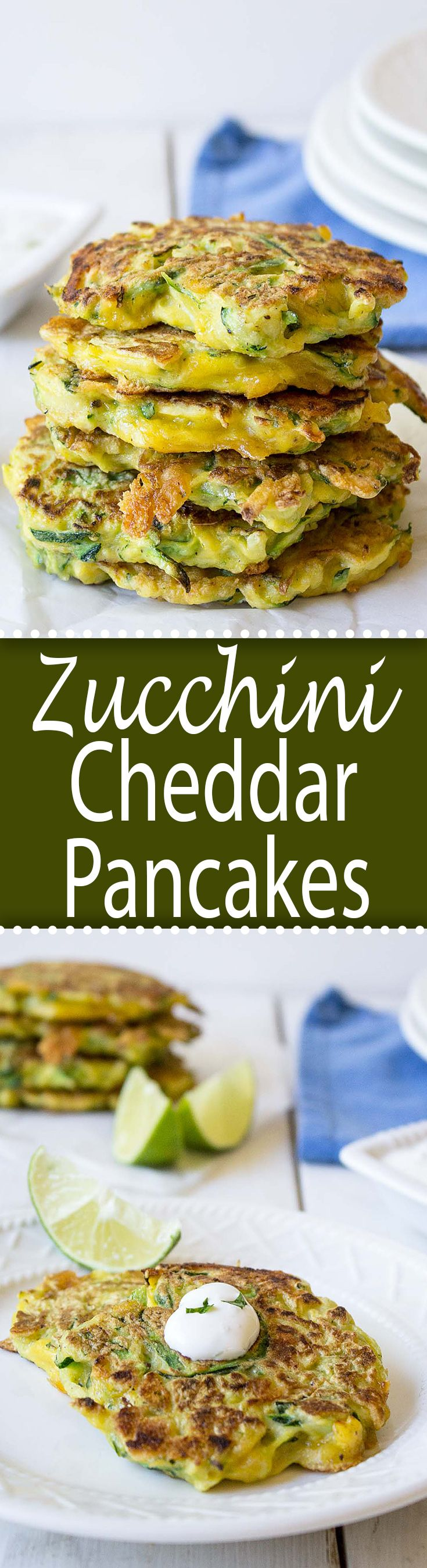 Zucchini Cheddar Pancakes beyondthechickencoop.com