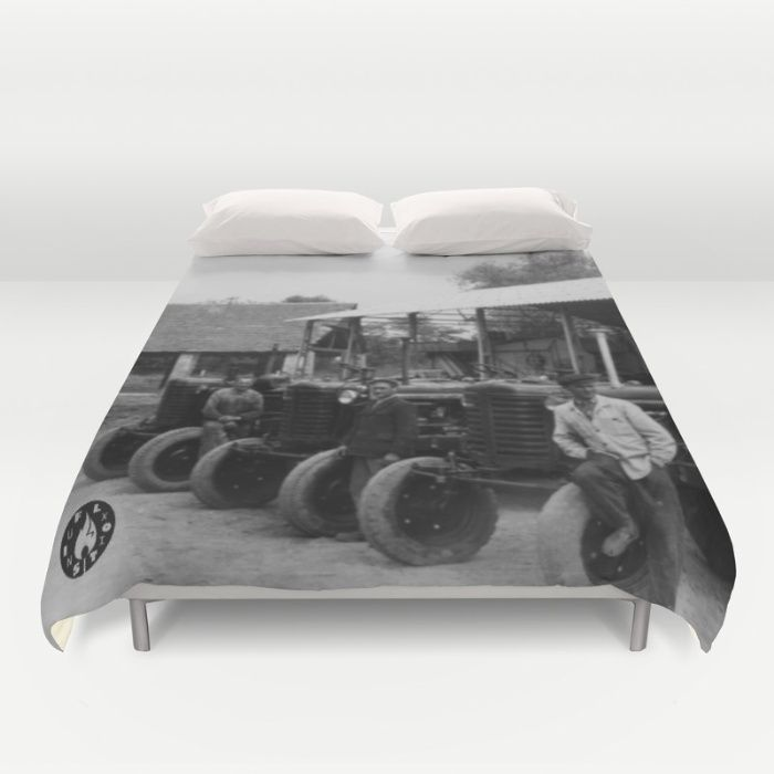 """we're getting wild I guess, it's """"Riders"""" duvet cover by Fluxionist on Society6"""