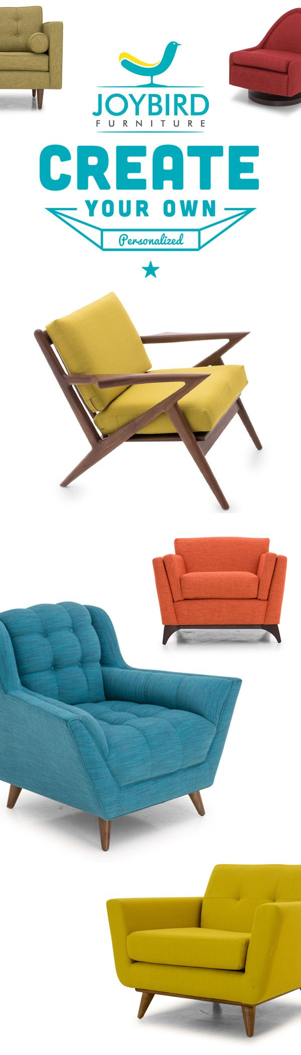 Make a Statement - Don't be generic with your furniture choice. Our design gets attention! Fully custom mid-century modern furniture. Free delivery + Free returns + lifetime warranty.  Request free swatch samples today!