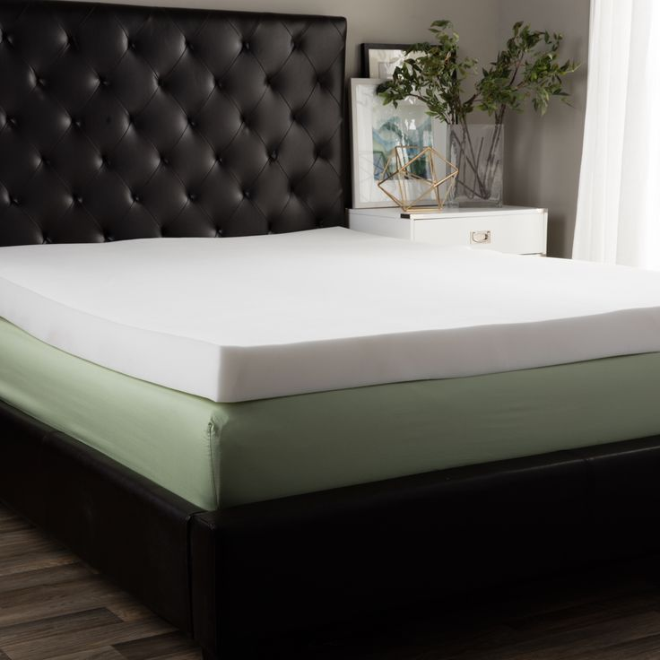 This Thick Foam Mattress Topper Is A Great Way To Make Any Bed More Comfortable And