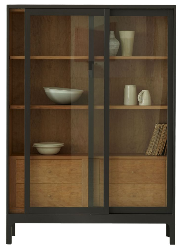Joyce Cabinet by Russell Pinch for The Conran Shop - sliding glass fronted doors and a cherry-lined interior, inspired by Victorian optometrist's shop-fitting