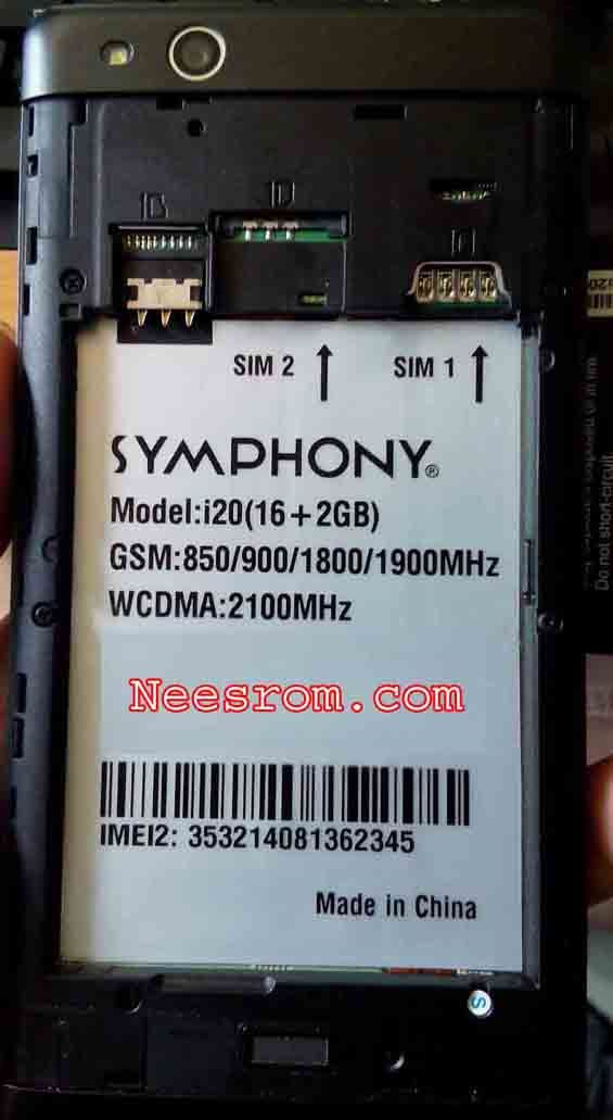 SYMPHONY i20 2GB RAM firmware Rom Flash File from the direct