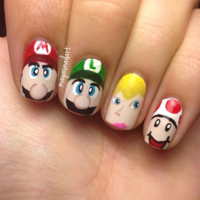 41 best super mario nail art design tutorial & videos by nded images ...