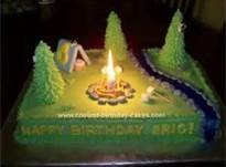 Fire pit on the cake