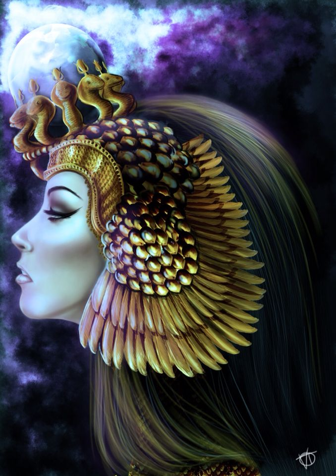Blue Queen Speed Painting. I need to improve myself with digital painting, so I decided to draw this sort of Egyptian/fantasy queen in two hours and that's the result. Hope you like it!