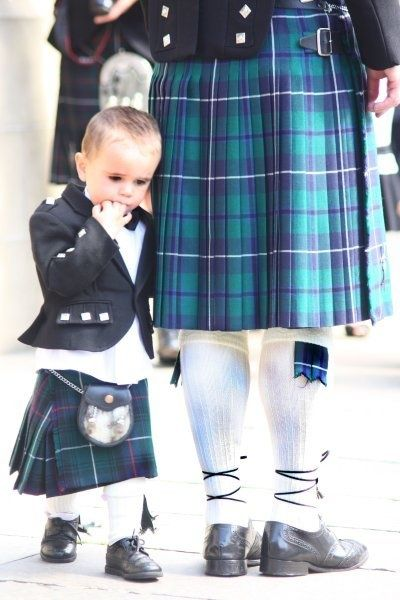At a Scottish wedding: kilt and kit.