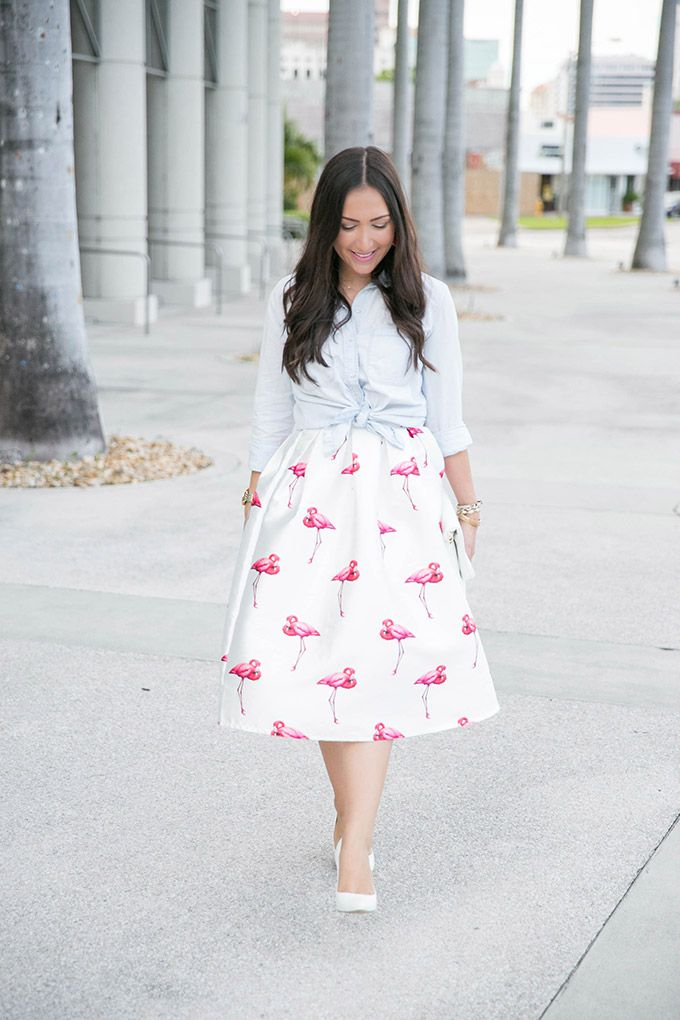midi-skirt-flamingo