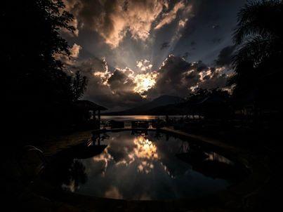 Sunset in #Lembeh from Lembeh Resort pool