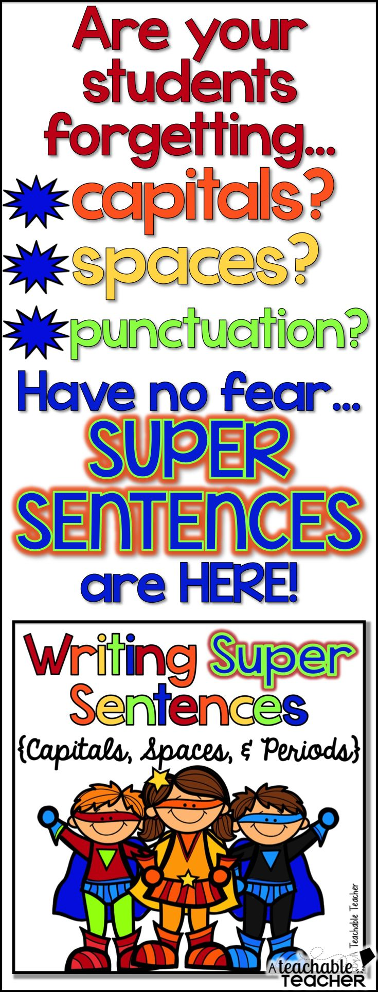 Worksheets Superhero Teacher Worksheets 260 best super exploiter images on pinterest diy visual posters worksheetspractice and a mini book for teaching sentence writing