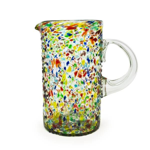 Enter to win a Confetti Recycled Pitcher and a $500 shopping spree from bambeco. Instead of going to a landfill, old soda bottles are rescued and transformed! One winner will be announced on Monday morning. #bambeco #recycled #sweepstakes: Decor Ideas, Recycled Glass, Soda Bottles, Pitcher 491562978, Bambeco Recycled, Monday Morning, Confetti Recycled, Recycled Pitcher