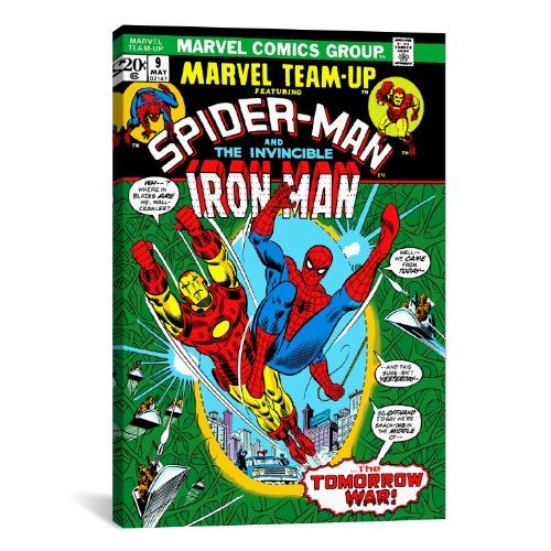 iCanvasART Marvel Comic Book SpiderMan Marvel Team Up Issue Cover No9 Canvas Art Print 18 by 12Inch >>> Check out the image by visiting the link.Note:It is affiliate link to Amazon.