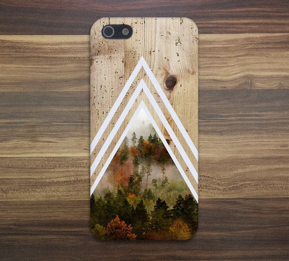 Chevron Dense Forest Tree Bark Wood Case Nature par CaseEscape