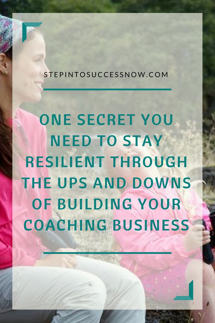 Starting a new business is tough and there are good days and bad.  Here is a way you can stay motivated during the ups and downs. https://stepintosuccessnow.com/blogs/news/how-to-stay-resilient-through-the-ups-and-downs-of-building-a-coaching-business