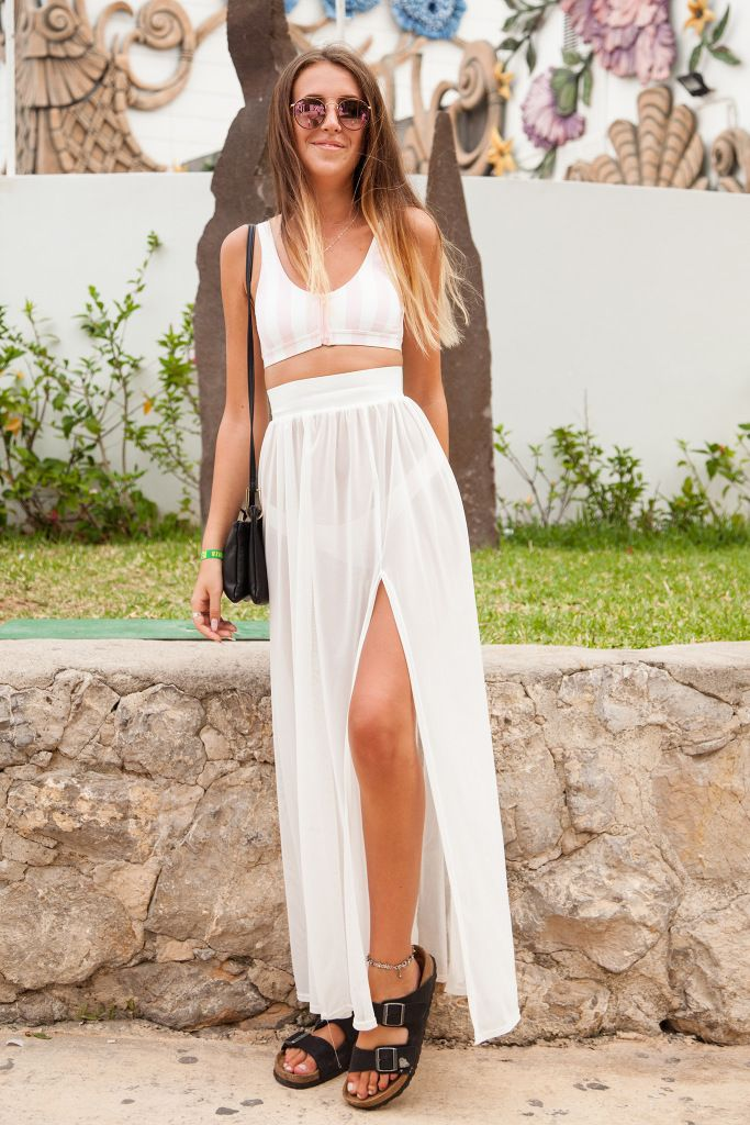 All-white summer outfit