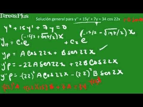 solución ecuación diferencial mediante superposición