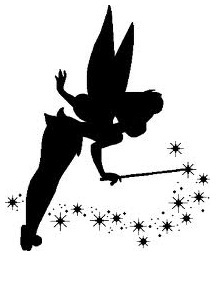 Tinkerbell silhouette. Right shoulder.