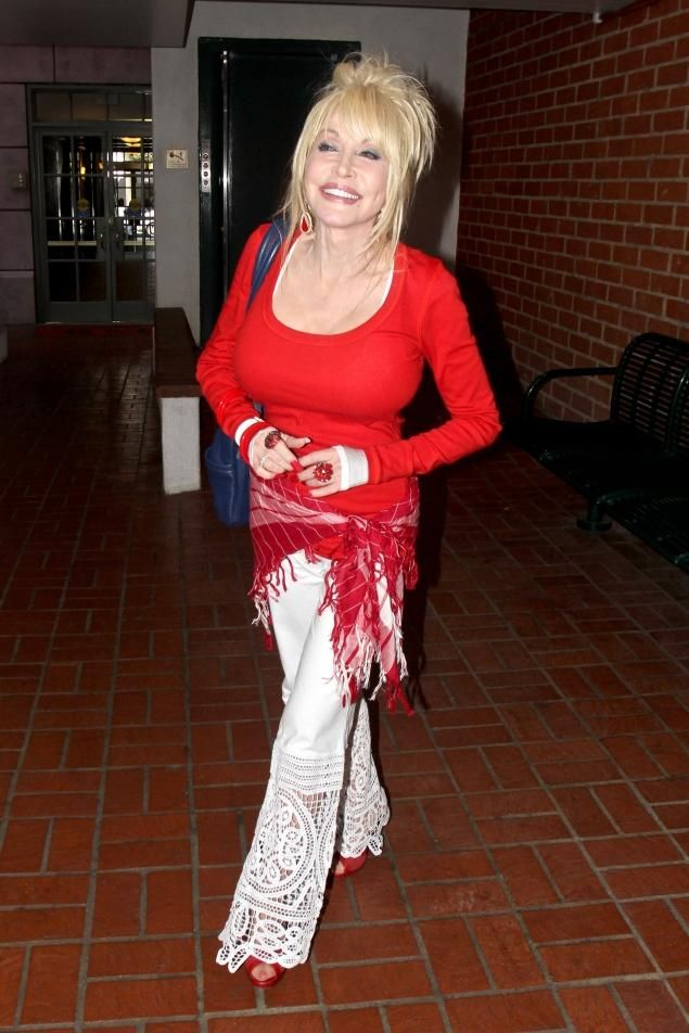 Image result for dolly parton red dress