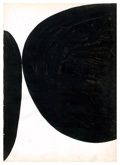 Ellsworth Kelly Untitled 1954 - Ink on paper