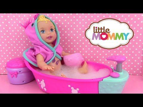 Little Mommy Bubbly Bathtime Bain de Bébé Poupon Baby Doll Color Changer - YouTube