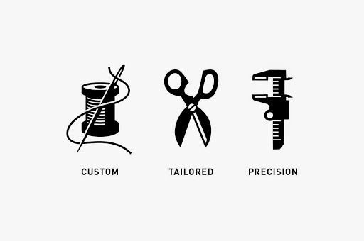 Custom Icon Designs - Clothing Icons #graphicdesign #TactixCreative