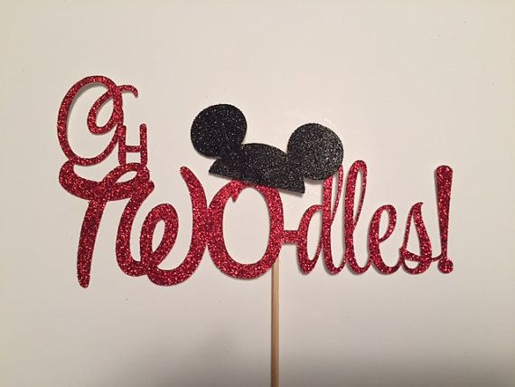 oh TWO-dles cake topper/ Mickey Mouse cake by MyPaintedDesigns