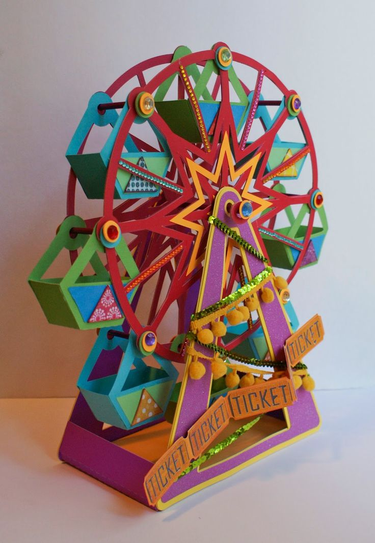 svgcuts.com ferris wheel made entirely by paper.