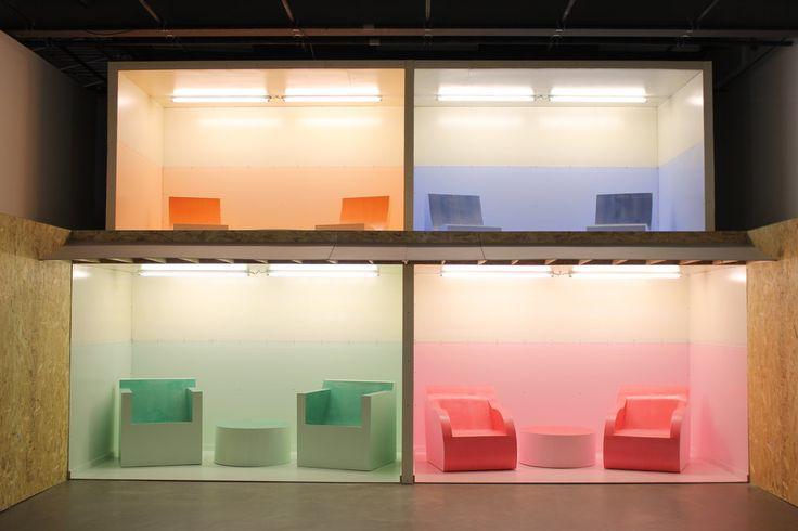 Se faire la cour pendant des semaines, Installation de Nicolas Fleming présentée à l'Oeil de Poisson en 2016 Photo: Catherine Genest (c) Communications Voir