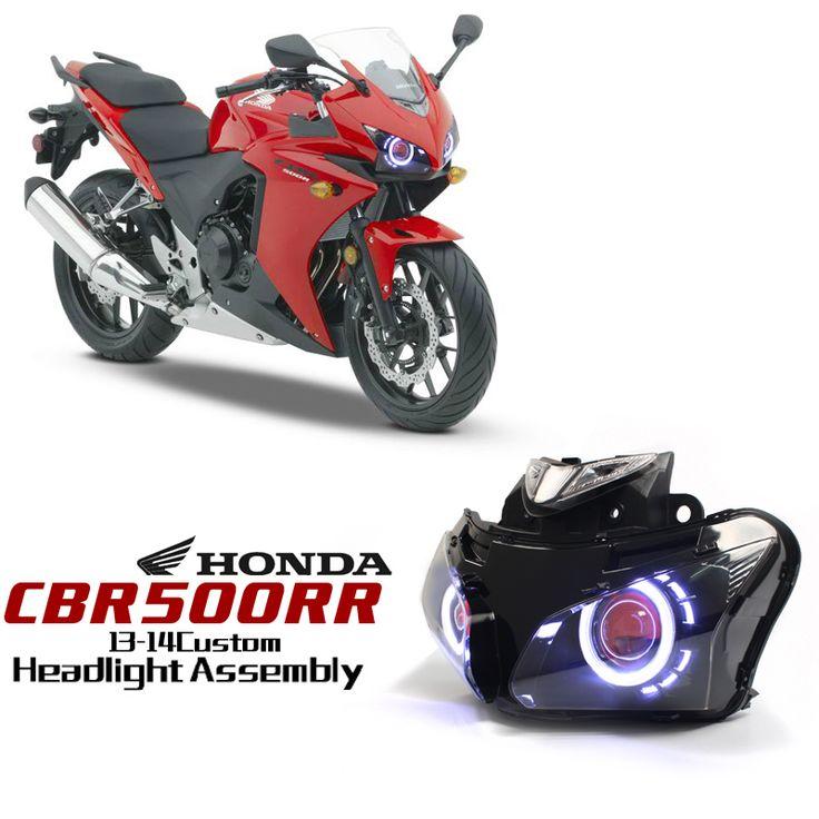 honda cbr500r 2013 2014 angel eye hid projector custom headlight assembly http www. Black Bedroom Furniture Sets. Home Design Ideas