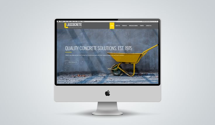 "http://www.newnormal.co.za/work/lascocrete/ ""The brand needed to imbue trust and confidence. The website had to look official, but not inaccessible."""