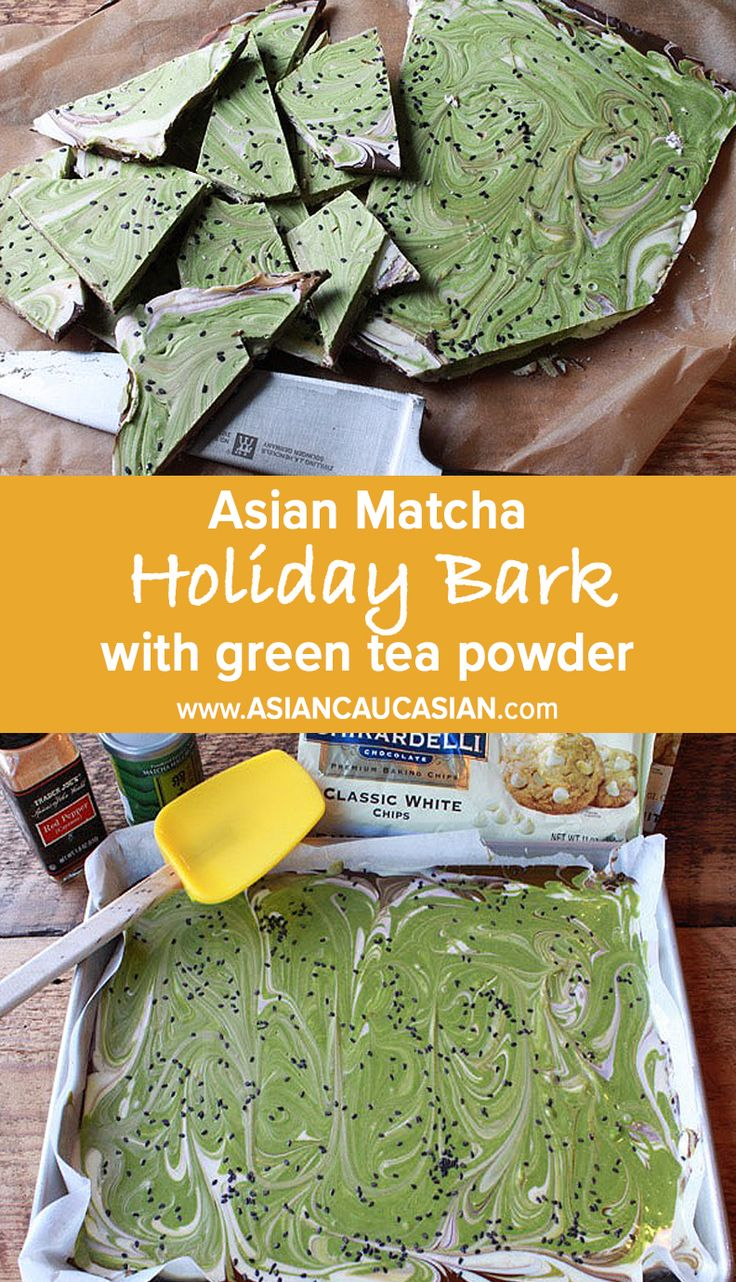 Asian Matcha Holiday Bark