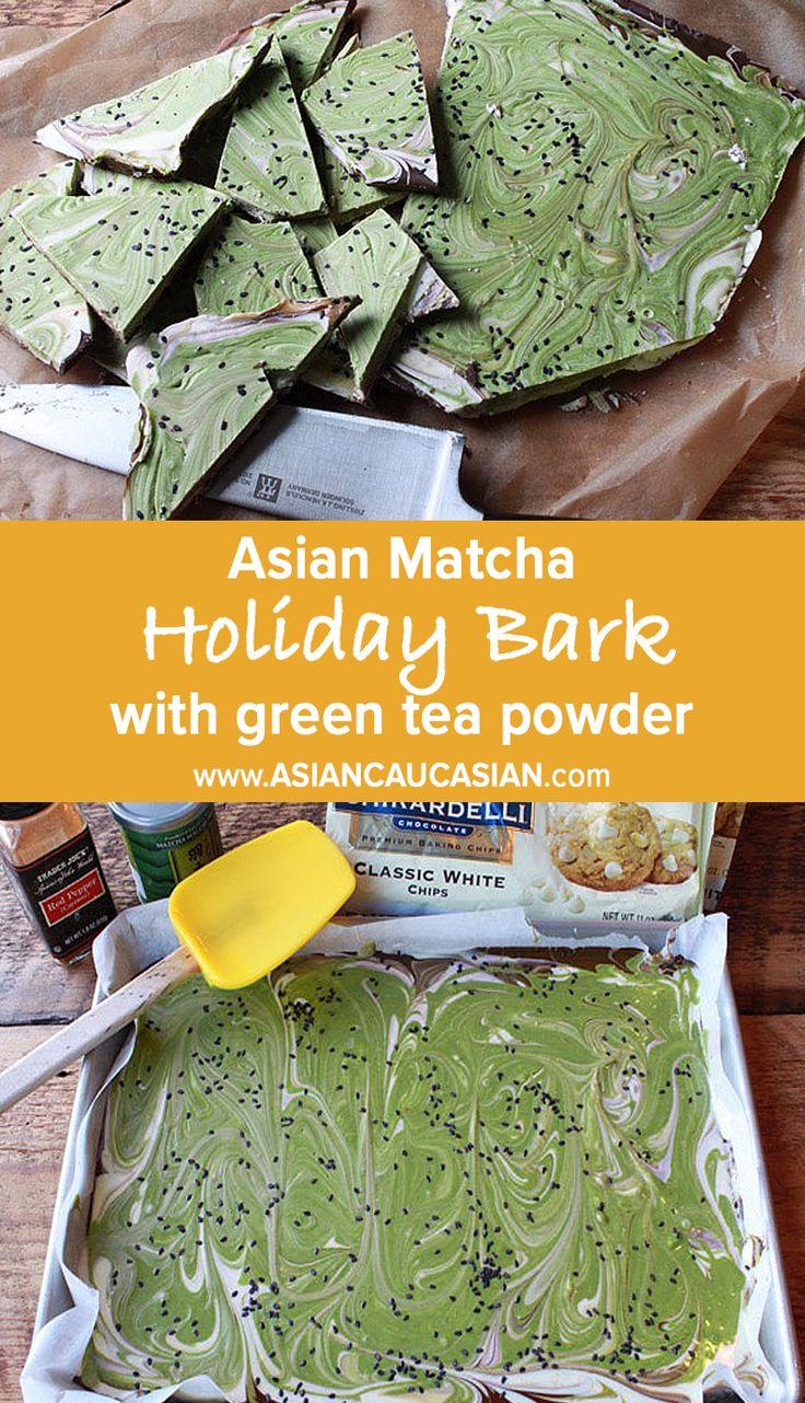 Asian Matcha Holiday Bark