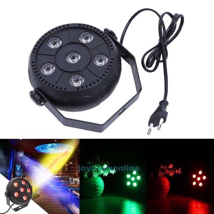 $17.93 AUD – 6 Rgbw Led Sound Control Par Stage Light Bar Ktv Dj Disco Club Xmas…