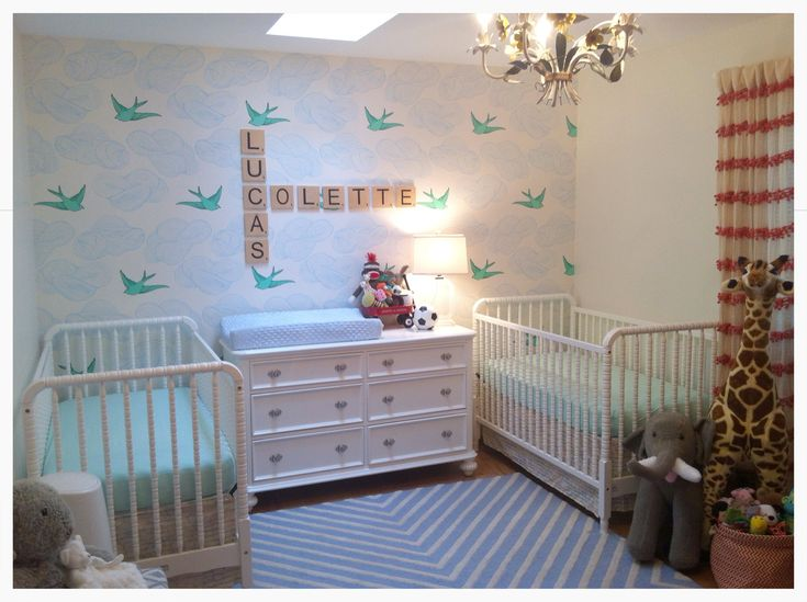 twin nursery for boy and girl twin ideas pinterest wall ideas girl nurseries and cute names. Black Bedroom Furniture Sets. Home Design Ideas