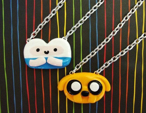 Adventure Time Best Friend Necklaces - Finn and Jake