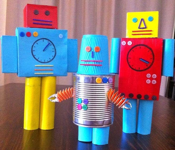 robot con materiales reciclados - Buscar con Google
