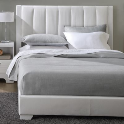 U0027Ridleyu0027 Contemporary Bed Ensemble   Sears | Sears Canada Includes  Upholstered Headboard, Footboard And Rails. King  $559. White. | Master  Bedroom ...