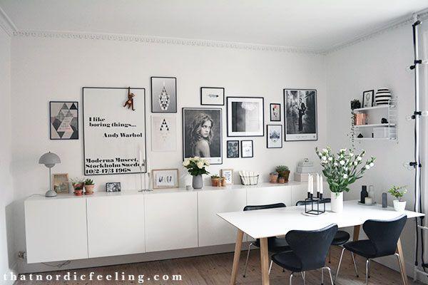 Photo wall via that nordic feeling
