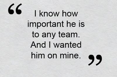 -- Bobby Valentine, on visiting David Ortiz soon after becoming the new Red Sox manager. Ortiz's production has been excellent this season after Valentine visited him in the offseason, much like it was when the Red Sox first took a chance on him in 2003.