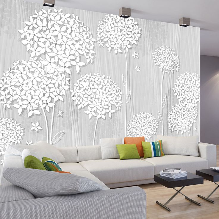 PHOTO TAPETE FLOWER wood look-white CREAM non-woven wallpaper XXL FRESCOS-b-C-0008-a-b