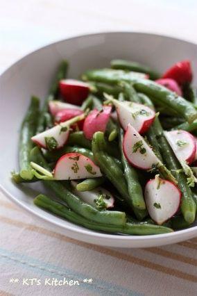 いんげんとラディッシュのハーブサラダ|レシピブログ