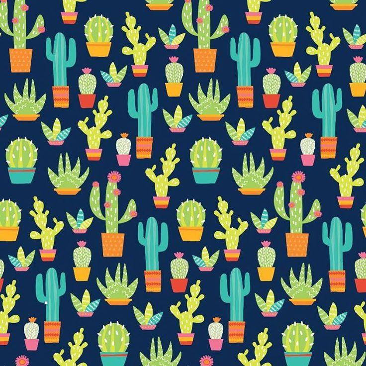 Cactus pattern design for wrapping paper.  .  .  .  #freelance #illustration #artistofig #digitalart #illustrator #vectorart #surfacedesign #repeatingpattern #wrappingpaper #cactus #bright#colorful