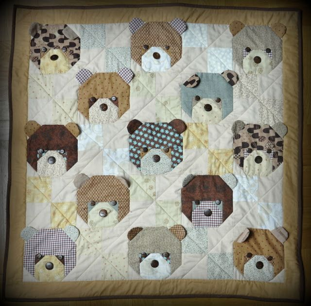 """Kiltowo"" cult quilting: Teddy Bears no. 3"