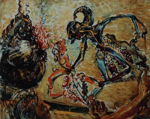 Wayang (Shadow Puppets) by Affandi