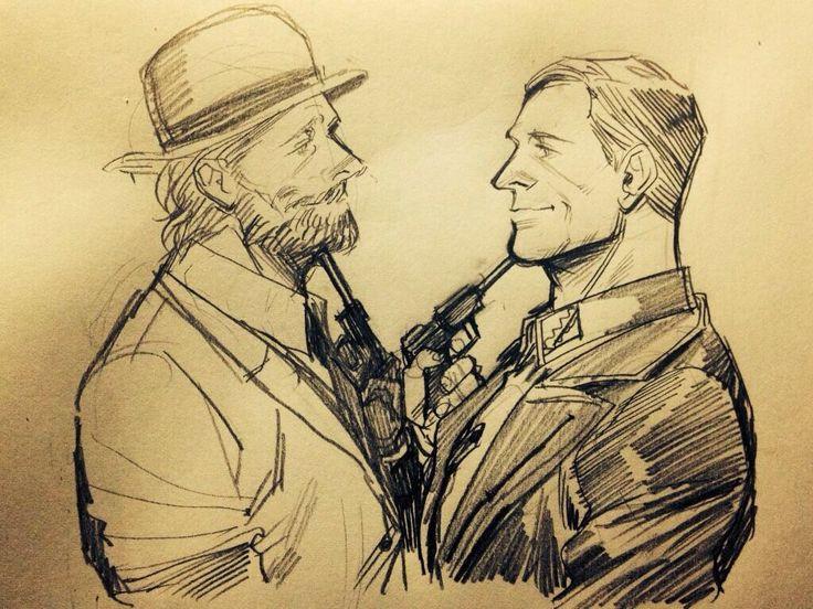 Dr. King Schultz and Hans Landa. #DJANGO UNCHAINED #INGLOURIOUS BASTERDS #KING SCHULTZ #HANS LANDA    http://macbethoff.tumblr.com